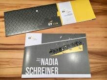ERNST & YOUNG EY NADIA SCHREINER BOOKLET & EINLADUNG