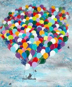 Luftballons, Katze, Fliegen