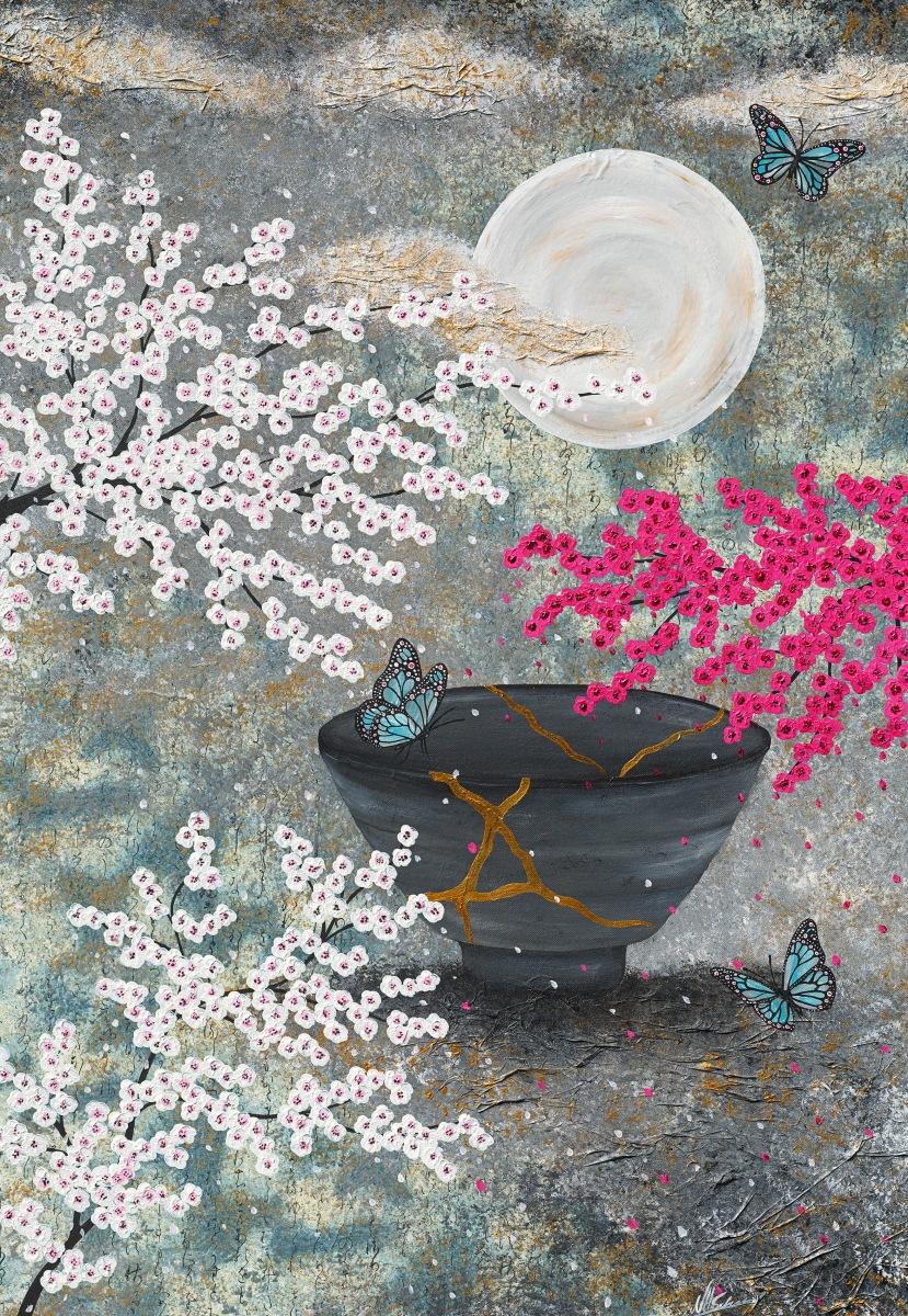 japan kintsugi, scherben glück schmetterling