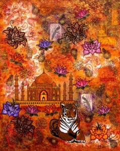 Indien tiger taj mahal lotusblüte