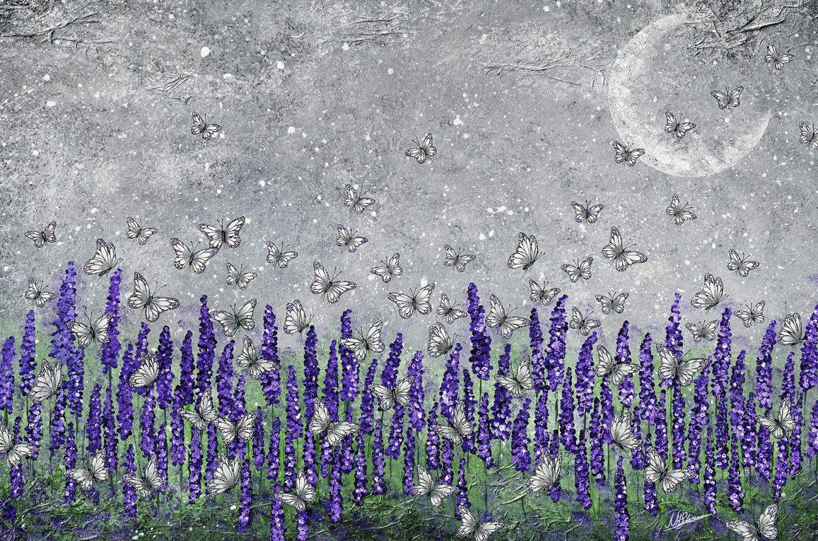 lavendel provence schmetterlinge lila weiss mond
