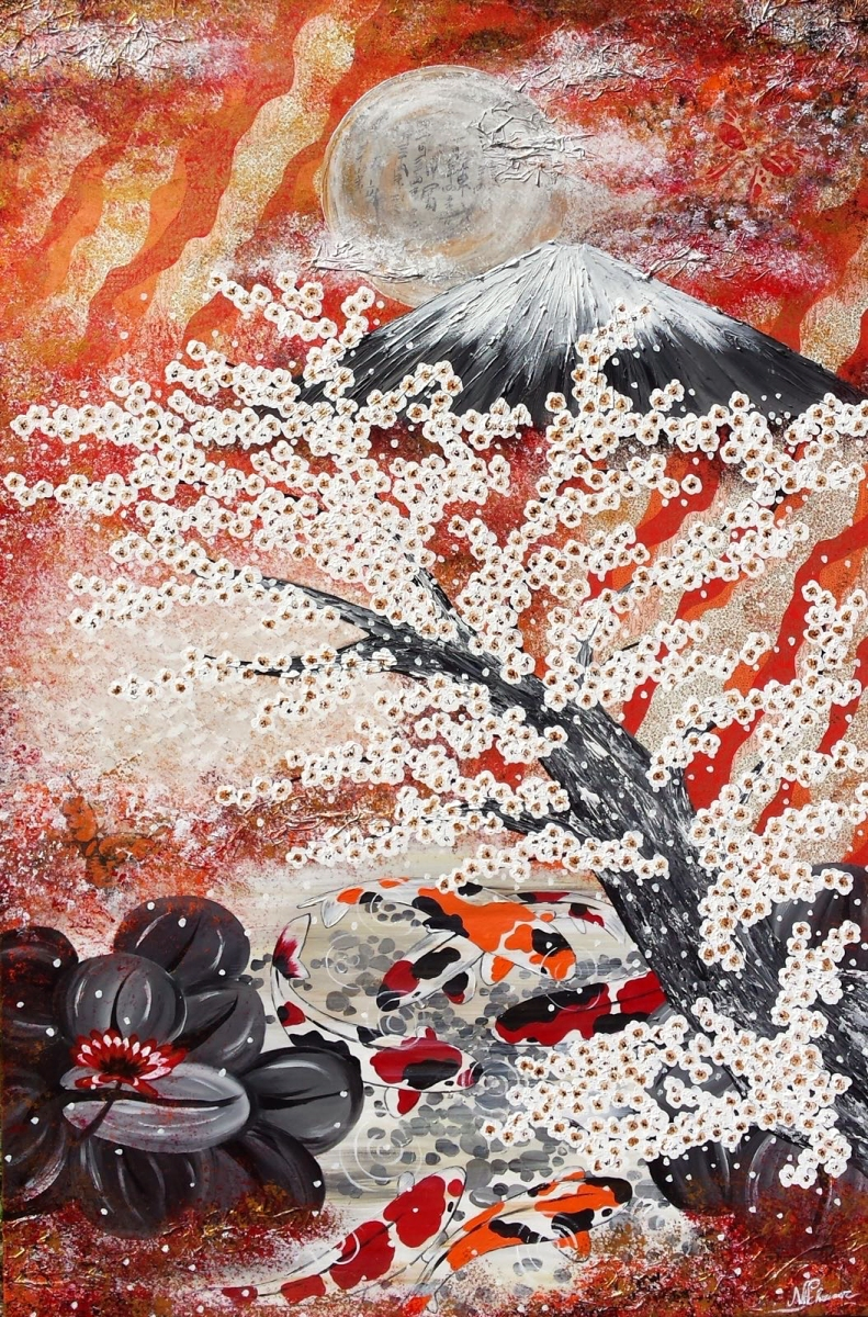 koi japan fuji kirschblüten