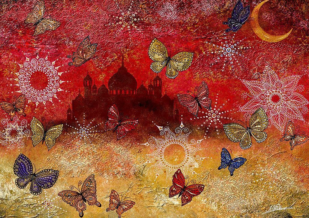 Orient Dubai Kamele Schmetterlinge Nahost Nadia Schreiner