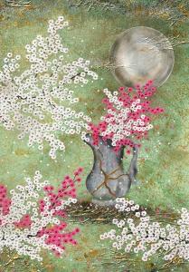 kintsugi vase scherben kirschblüten