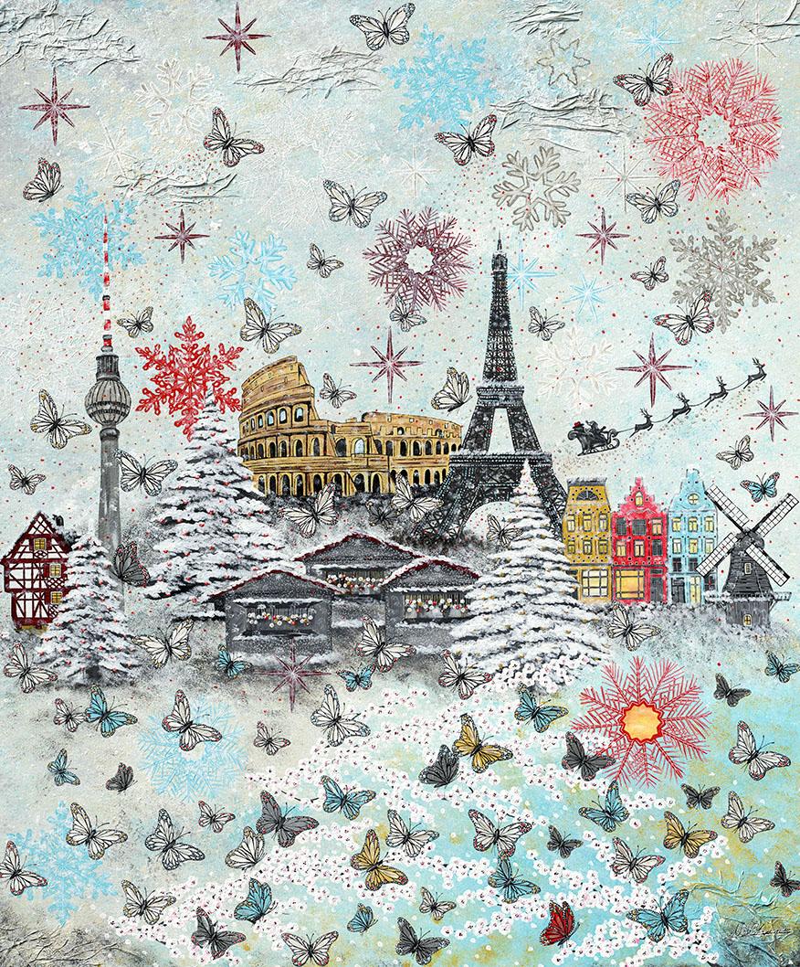 Eiffelturm, Kolosseum, Berlin, Holland, Weihnachten