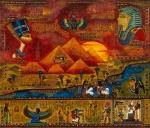 Leinwand Druck Gemälde Acryl Bild Malerei Nadia Schreiner painting journeys ÄGYPTEN GÖTTER NOPHRETE PYRAMIDEN KAIRO