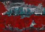 Leinwand Druck Gemälde Acryl Bild Malerei Nadia Schreiner painting journeys INDIAN VANCOUVER SUMMER