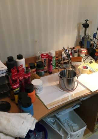 """Mein """"Werkzeug"""" in meinem kleineren Atelier"""