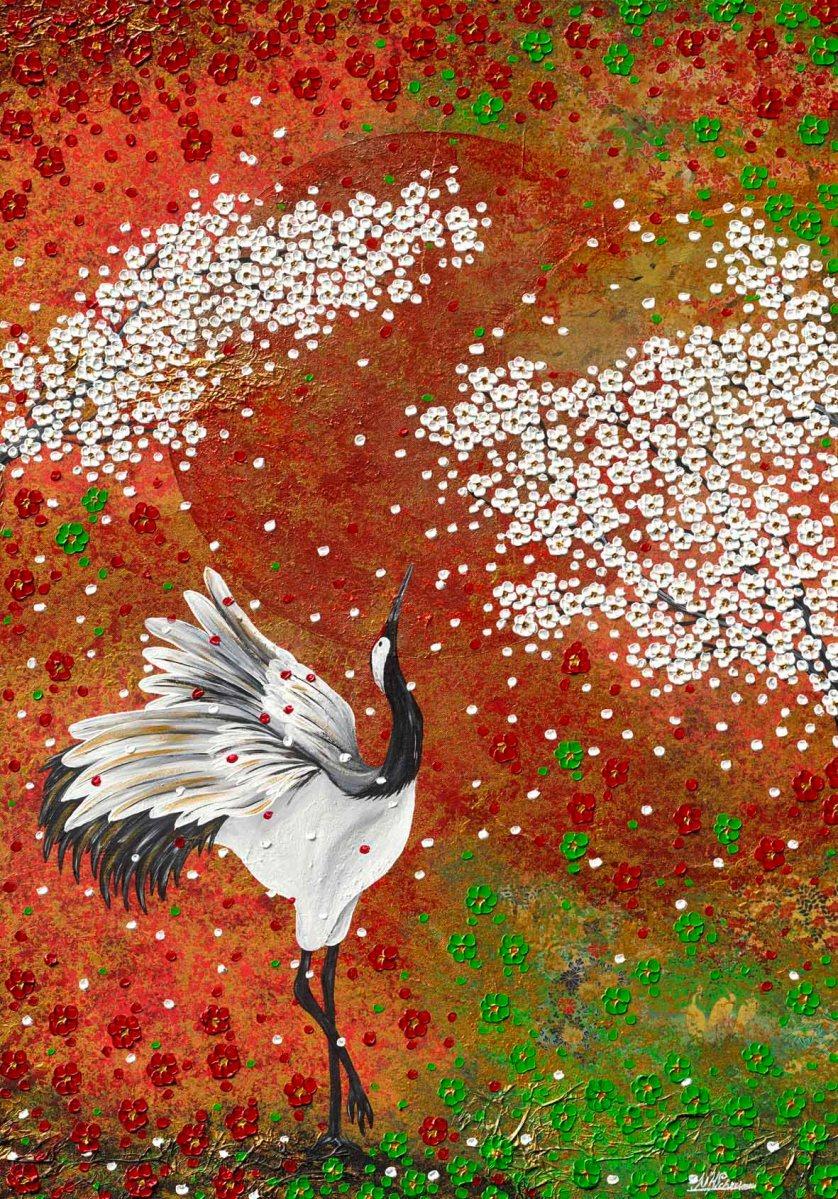 Kranich Hokkaido tanz tanzen Kraniche Frühling Herbst Japan