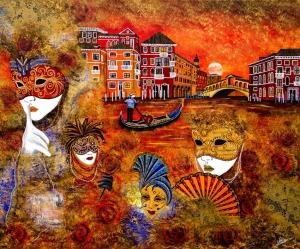 Venedig karneval carneval masken rialto