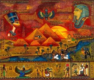 Ägypten Nadia Schreiner Painting Journeys Götter Nophretete PyramidenKunst Acryl Galerie