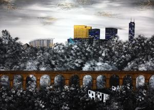 Nadia Schreiner Painting Journeys Luxemburg Kirchberg Pop Art Kunst Acryl Galerie