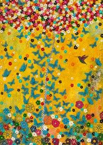 Frida Kahlo Mexico Schmetterling Blüten Frühling Blumen Kolibri butterfly nadja nadia