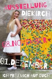 Nadia Schreiner Painting Journeys Kunstausstellung Ausstellung exposition Diekirch Maison de la Culture 2019 november