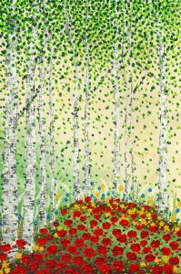 Wald Mohnblumen Nadia Schreiner Painting Journeys
