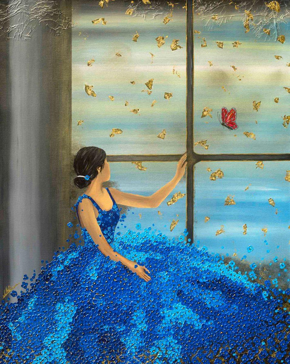Ballerina Tänzerin Nadia Schreiner Painting Journeys Schmetterling