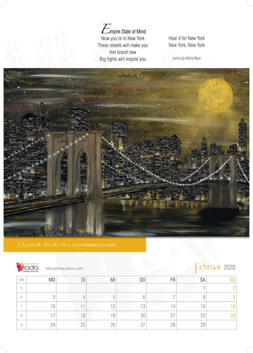 Kalender Kunstkalender Nadia Schreiner Painting Journeys