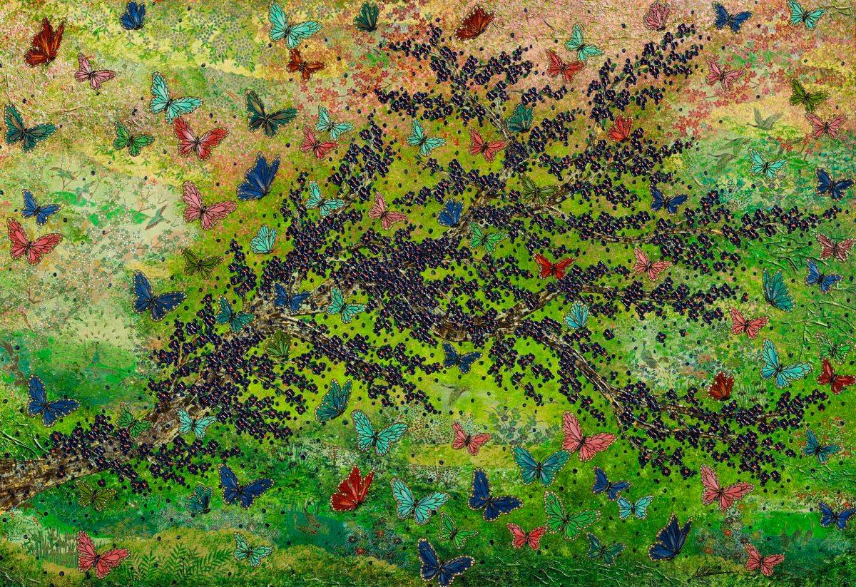 Japan Schmetterling grün Nadia Schreiner Painting Journeys
