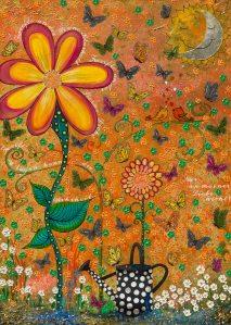 Blume Gießkanne Nadia Schreiner Painting Journeys