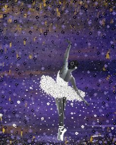 Ballerina lila purple Nadia Schreiner Painting Journeys Regen