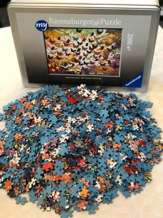 NADIA SCHREINER PUZZLE BUTTERFLY WITH ME RAVENSBURGER PAINTING JOURNEYS Detail