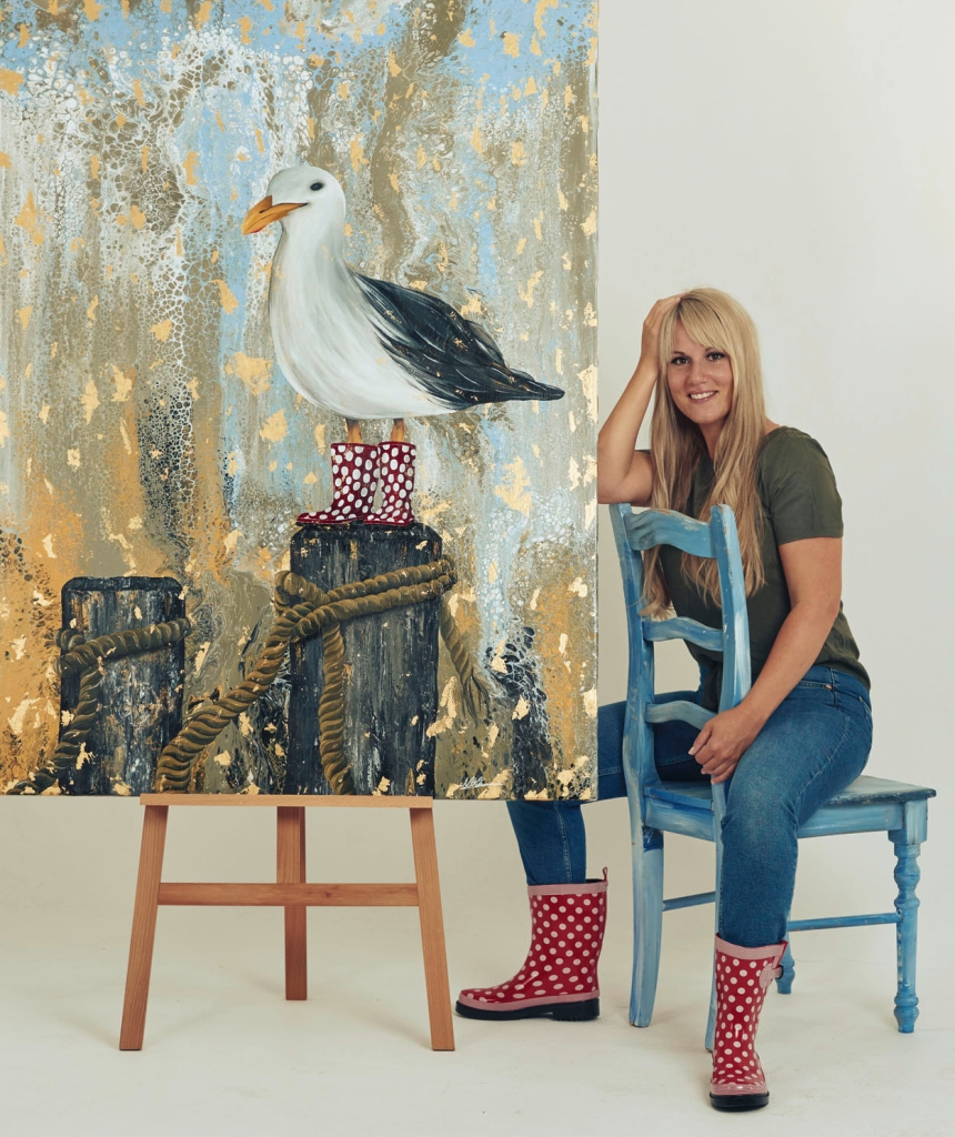Nadia Schreiner Painting Journeys Pop Art Möwe